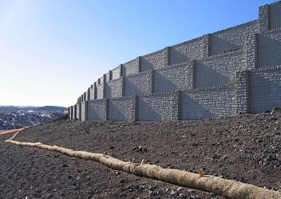 Verti-Crete Prefabricated Concrete Retaining Wall - Commercial