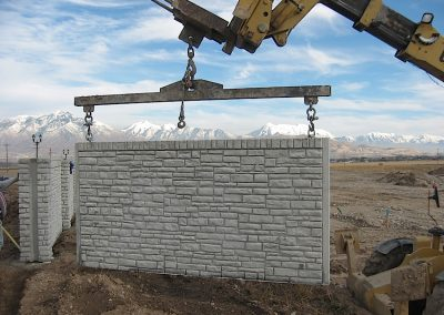 Verti-Crete Prefabricated Concrete Wall Installation